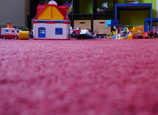 lego v dětském pokoji