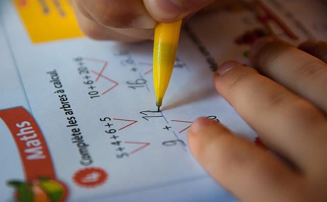 počítání školáka