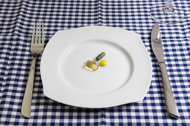 léky na talíři