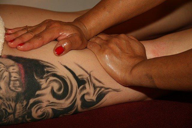 masáž stehen